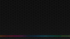 Hexagon Texture Spectrum Colorful Minimalism 3440x1440 Wallpaper