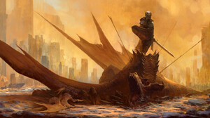 Fantasy Art Artwork Dragon Knight 3840x1799 Wallpaper