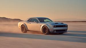 Car Coupe Dodge Dodge Challenger Dodge Challenger Srt Dodge Challenger Srt Hellcat Muscle Car Silver 3000x2000 Wallpaper
