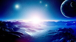Sunset Galaxy Stars Planet Milky Way Nebula Moon Black Holes 6000x4000 Wallpaper