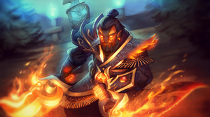 Armor Dota 2 Ember Spirit Dota 2 Fire Sword Warrior 1920x1080 Wallpaper