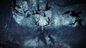 The Witcher The Witcher 3 Wild Hunt Demon Crow Fear Effect Digital Art Video Games Monster Hunter 1920x1080 Wallpaper