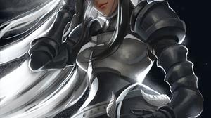 Overlord Anime Female Warrior Armored Woman Fantasy Armor Monster Girl Smiling Hair In Face Hair Blo 2480x3508 Wallpaper