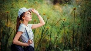 Asian Cap Girl Model Mood Woman 4562x3043 Wallpaper