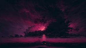 Digital Painting Science Fiction Arrival Sky Night BisBiswas 1920x1080 Wallpaper