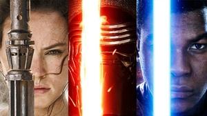 Daisy Ridley Finn Star Wars John Boyega Kylo Ren Rey Star Wars Star Wars Star Wars Episode Vii The F 1920x1080 Wallpaper