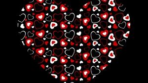 Artistic Black Heart Red White 1920x1200 Wallpaper