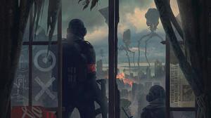 Alexey Egorov Digital Art Fantasy Art Dreamcatcher Alien Attack Lantern Newspapers War Of The Worlds 970x1435 Wallpaper