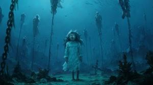 Creepy Girl Little Girl Underwater 1920x1182 wallpaper
