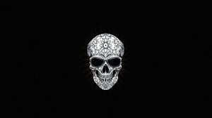 Skull Black Background Simple Background 3840x2160 wallpaper