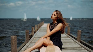 Woman Model Girl Dress Depth Of Field Redhead 2048x1309 Wallpaper