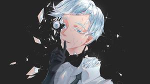 Blue Eyes Grey Hair Girl Short Hair Antarcticite Houseki No Kuni 3507x2400 Wallpaper
