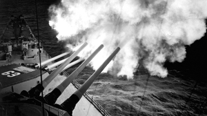 Military Ship United States Navy World War Ii History Cannons Monochrome 3200x1800 Wallpaper