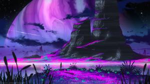 Michal Kva Digital Art Illustration Artwork ArtStation Fantasy Art Concept Art Landscape Planet Star 1536x864 Wallpaper