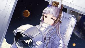Anime Girls Astronaut Spacesuit 1920x1090 Wallpaper