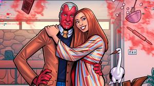 Marvel Cinematic Universe Marvel Comics Wanda Maximoff Scarlet Witch Vision 1920x1080 Wallpaper
