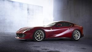 Car Ferrari Ferrari 812 Superfast Grand Tourer Red Car Supercar Vehicle 4096x2304 wallpaper