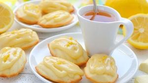 Biscuit Lemon Madeleine Tea 2336x1716 wallpaper
