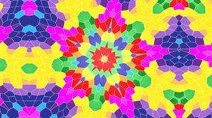 Blue Colorful Colors Digital Art Pattern Yellow 1920x1080 Wallpaper