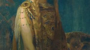 Artwork Painting Gold Women 1096x1920 Wallpaper
