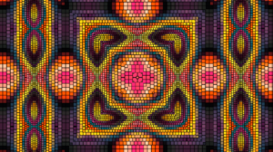 Artistic Colorful Colors Kaleidoscope Mosaic Pattern Psychedelic 1920x1080 Wallpaper