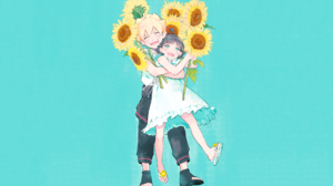 Boruto Naruto Next Generations Uzumaki Himawari Uzumaki Boruto Anime Sunflowers Blond Hair Siblings  2560x1600 Wallpaper