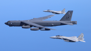 Boeing B 52 Stratofortress McDonnell Douglas F 15 Eagle Military Aircraft Military Aircraft Jet Figh 3840x2160 Wallpaper