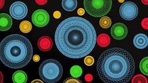 Colorful Artistic Geometry Circle 1920x1172 Wallpaper