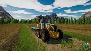 Farming Farming Simulator Farming Simulator 2019 Tractors Yellow Oats Grass Sky Game Road 3840x2160 Wallpaper