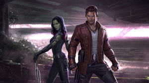 Gamora Guardians Of The Galaxy Vol 2 Star Lord 1823x911 wallpaper
