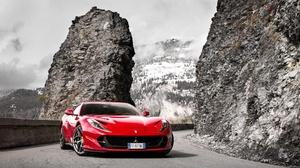 Car Ferrari Ferrari 812 Superfast Red Car Sport Car Supercar Vehicle 4994x2809 wallpaper