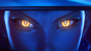 Evelynn Evelynn League Of Legends Riot Games League Of Legends Yellow Eyes Looking At Viewer Video G 3840x2160 Wallpaper