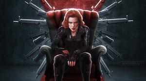 Black Widow Gun Natasha Romanoff Redhead Scarlett Johansson Short Hair 3300x1856 Wallpaper