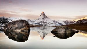 Alps Matterhorn Reflection 2048x1258 Wallpaper