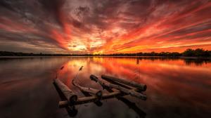 Canada Lake Sky Sunset 3840x2400 wallpaper