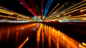 City Cityscape Urban Night Photography Neon Neon Lights Colorful Black Background Street 3907x2211 Wallpaper