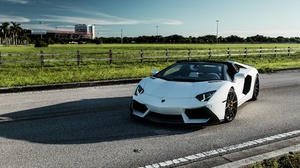 Car Lamborghini Lamborghini Aventador Sport Car Supercar Vehicle White Car 2048x1280 Wallpaper