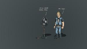 Text Metal Metal Music Fans Humor Digital Art Simple Background Cartoon Artwork 1920x1200 Wallpaper