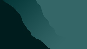 Mountains Mist Green Artwork Abstract Simple Simple Background Gradient 5000x3200 Wallpaper