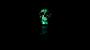 Black Black Background Digital Art Skull Parallel Universe Portal Portals Simple Simple Background 3840x2160 Wallpaper