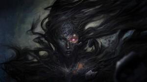 Demon Girl Hair Woman 7200x4050 Wallpaper