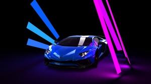 Blue Car Car Lamborghini Lamborghini Aventador Sport Car Supercar Vehicle 8083x4547 Wallpaper