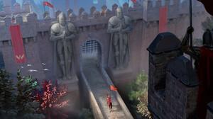 Eduardo Suarez Garcia Artwork Fort Castle Guards Knight Statue Digital Art 2140x1080 Wallpaper