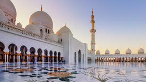 Religious Sheikh Zayed Grand Mosque 3096x2067 wallpaper
