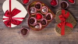 Gift Heart Shaped Love Chocolate 5278x3616 Wallpaper