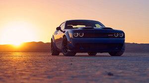 Blue Car Desert Dodge Dodge Challenger Srt Hellcat Luxury Car Sunset 1920x1080 Wallpaper