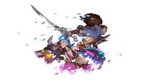 Jinx League Of Legends Yasuo League Of Legends 2560x1280 wallpaper