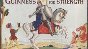 Guinness Beer Advertisements Knight Squire Dragon Vintage 2560x1738 Wallpaper