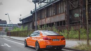 Car Orange Cars Vehicle BMW Street 4096x2731 Wallpaper