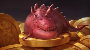 Coin Dragon Gold 5021x2500 Wallpaper